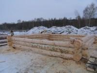 Строительство бревенчатого дом и бани